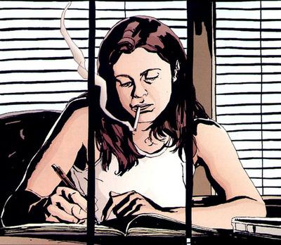 Jessica Jones from the Marvel comic series the show is based off.