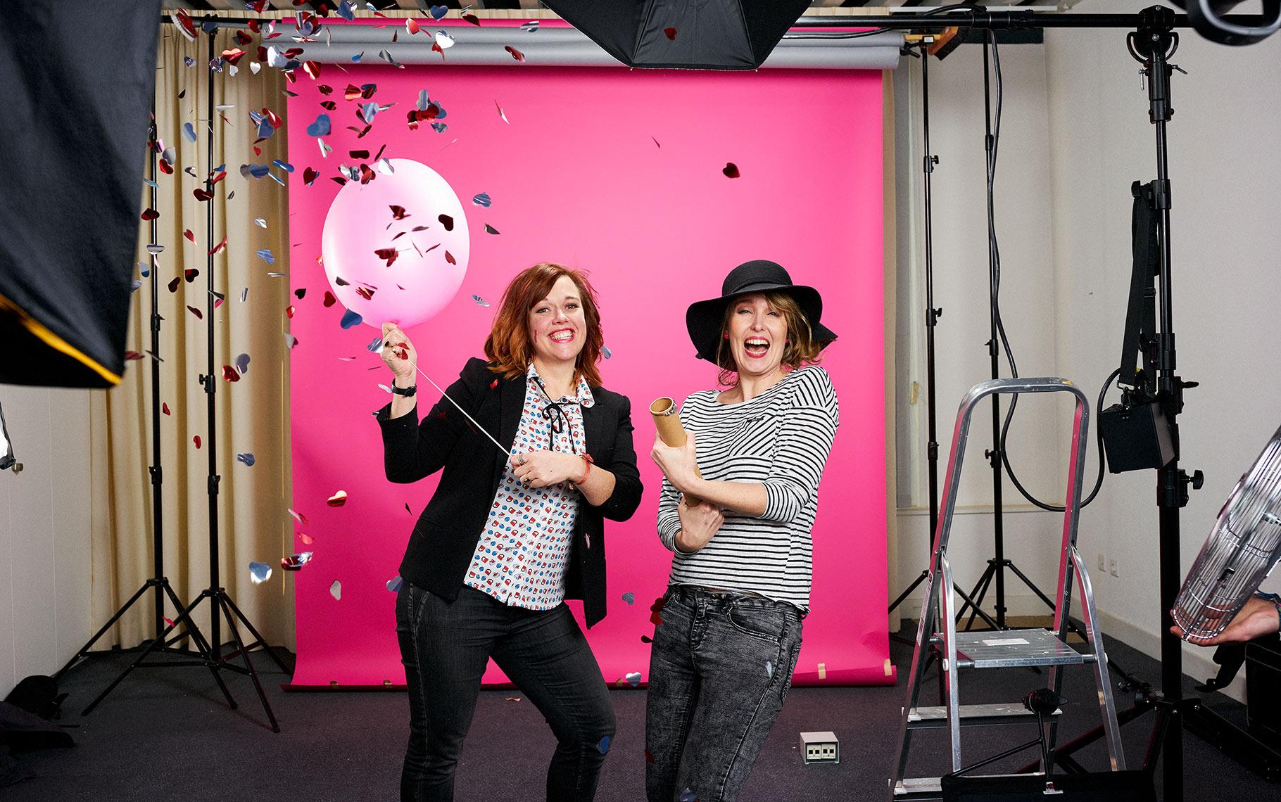 Christa Kranenburg en Miranda Francke. Meet Me Events.