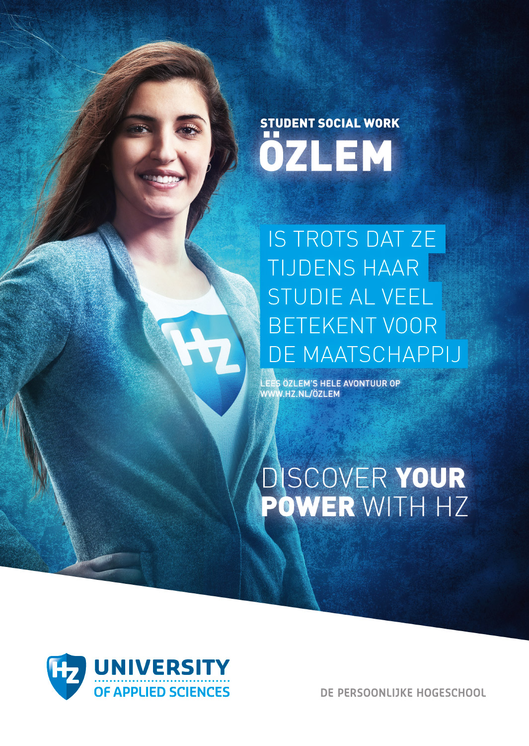Copy of Studioportret fotografie voor 'Discover your power with HZ' campagne