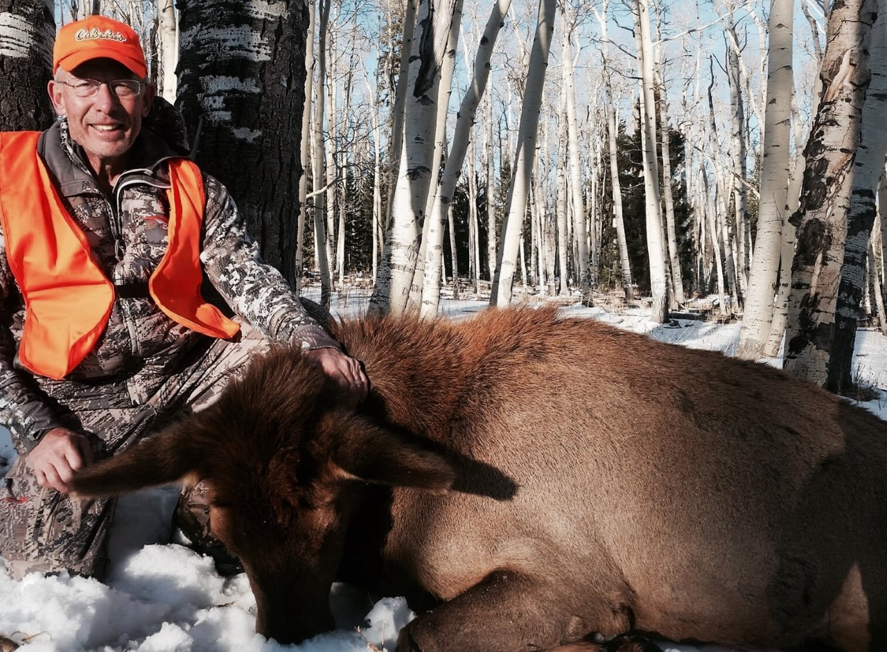 Tom G and his cow elk with Bull Basin Outfitters.jpg