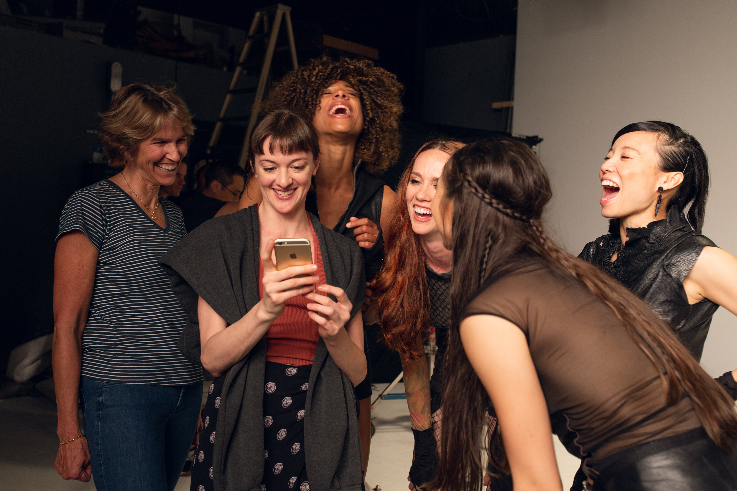 From left to right, your faithful music video director-Kate, choreographer Laura O'Malley and dancers Adji Cissoko, Maddie DeVries, Kat Eng (back to photo) and Frances Chung, 22 weeks pregnant! It was a blast.