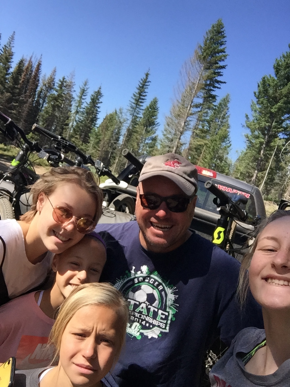 Rodney Auth poses with his family during their trip to Bear Basin.
