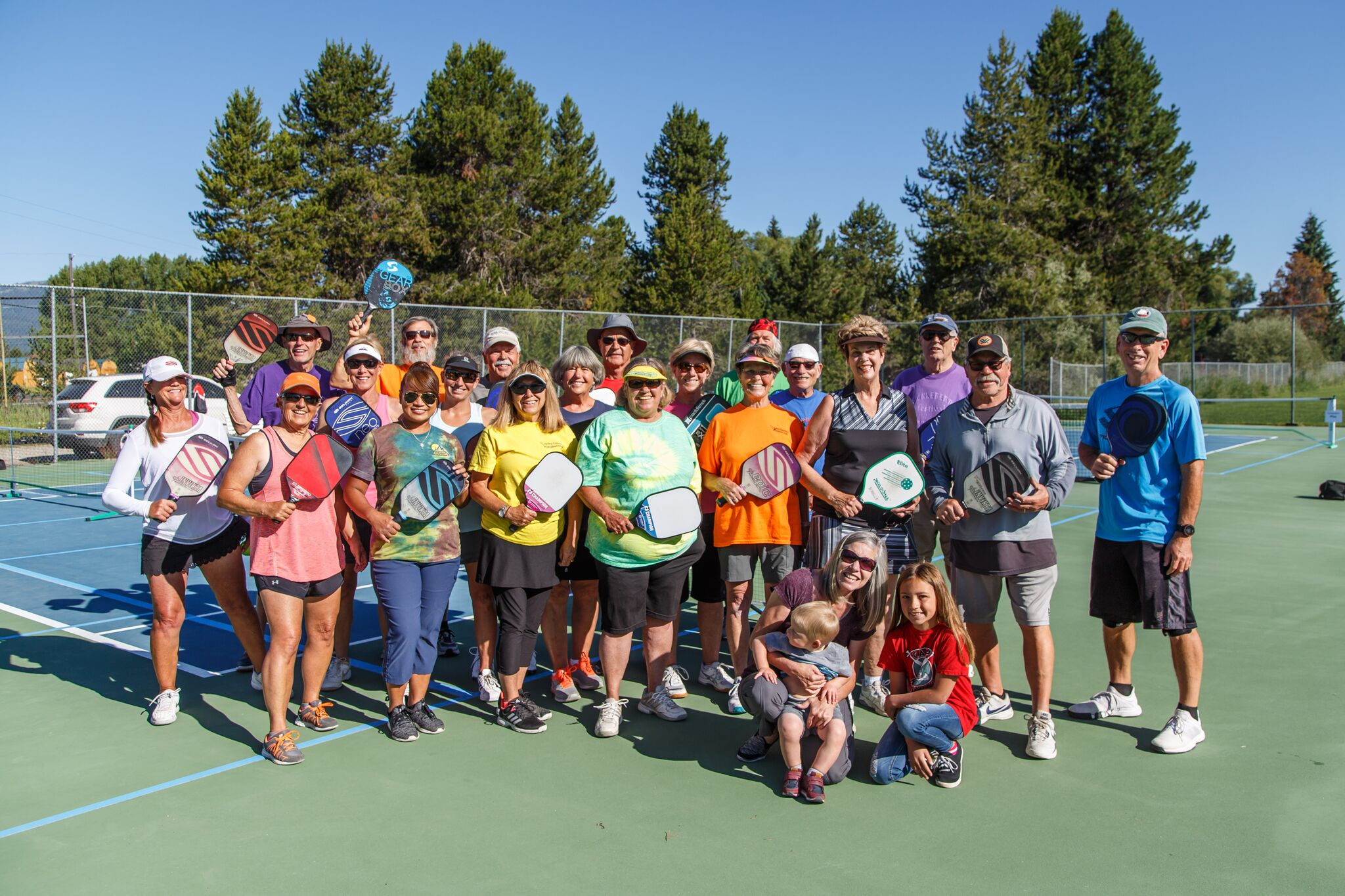 Locals participate in a Valley County Pickleball Club open house. Photos courtesy of Chesea Tuttle