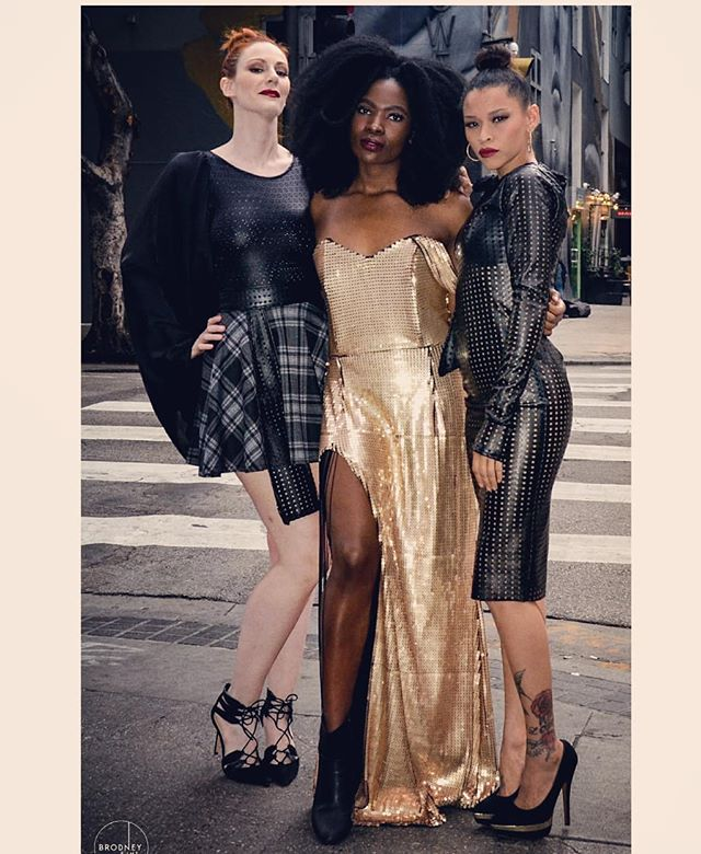 When your #WCW's double as #SquadGoals 😍😍😍 You can still shop the looks from our Latest Capsule Collection.💕💕💕 . 📷: @bobbybrodney . . #Werk #dolls #fierce #designer #LA #fashion #satc #gold #gray #dtla #flannel #fauxleather #style #editorial #hues #fall #holiday #celebration #capsule #collection #NgozikaOkeke #NgozikaOkekeHoliday19