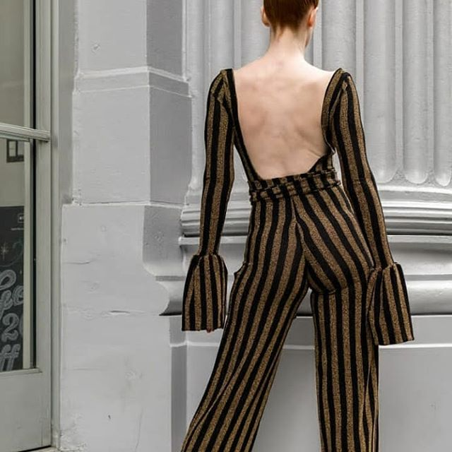 Its #humpday, let's get BACK to work...get it?😋 lol.Be sure to check our the Garlen Jumpsuit and Garlen Dress...they never disappoint!!...💕💕💕 . 📷: @sartorial.losangeles Model: @kat_sheridan . . . #Wednesday #jumpsuits #jumpsuit #Newyear #stripe #faux #gold #art #deals #fitted #collections #fashiondesigner #bronze #werk #details#laughter #legs #photos #artists #inspired #pantsuit#universe #pose #ootd #style #influencer #entertainment #fashion #dtla