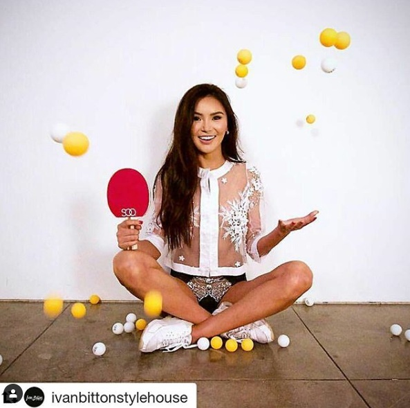 Copy of World PingPong Champ, Soo Yeon Lee wearing Ngozika Okeke