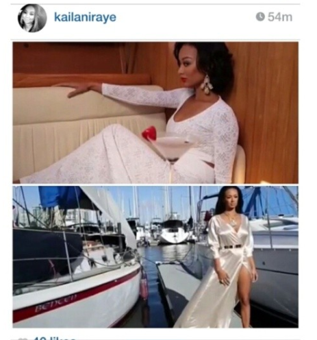 Copy of Draya Michelle wearing custom Ngozika Okeke (bottom)