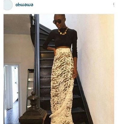 Copy of Model, Destiny Owusu wearing Ngozika Okeke