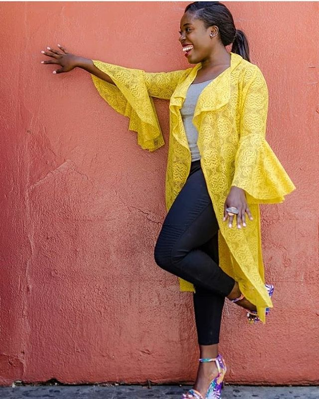 Ready for another round of seasonal dusters? We have some new ones coming your way!💕💕💕 . 📷: @sartorial.losangeles . . . #spring #summer #dusters #shopsmall #NgozikaOkeke #lace #mustard #mustardyellow #bellsleeves #smiles #brands #happy #StPatrickDay #celebration