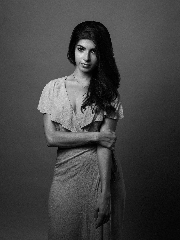 B&W beauty portrait, fashion, women, Fine Art Portrait, Jozsef Daniels