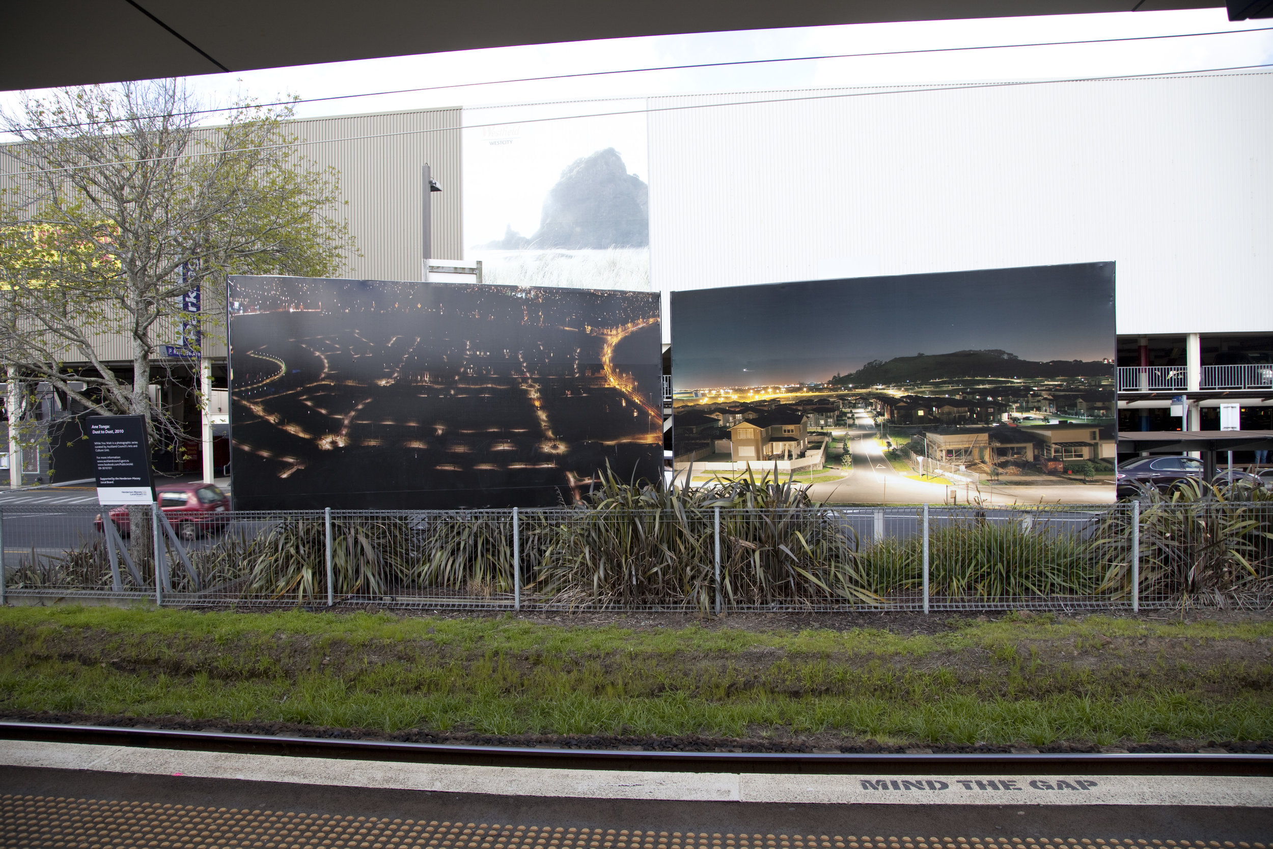 Dust to Dust.  Install view, Henderson Billboards 2013