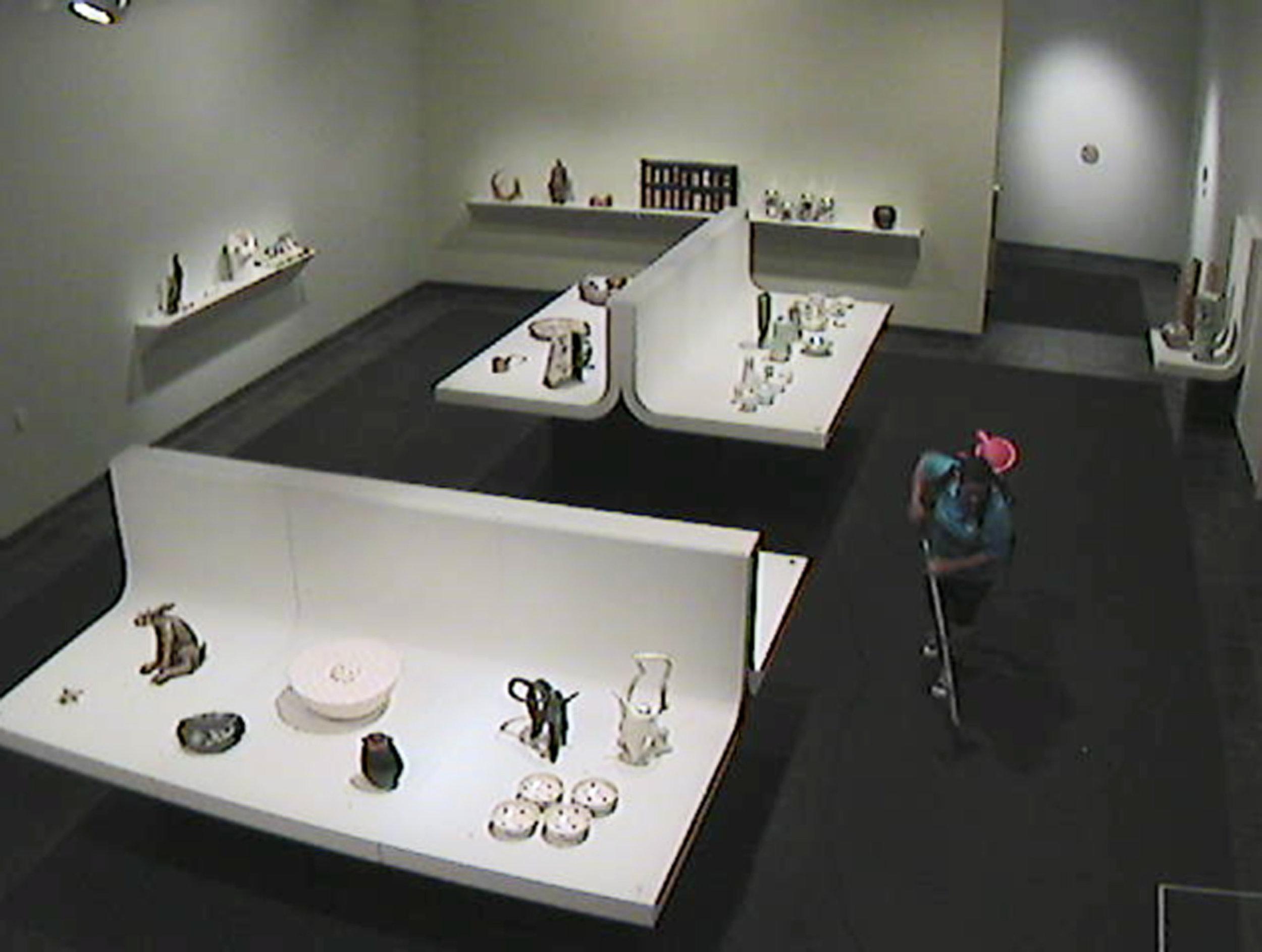 Leafa Wilson aka Olga Krause,  Camera 117  2011. From  Back to It  series. CCTV Footage. Artist Collection