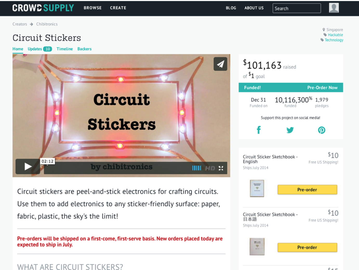 crowdsupply circuit stickers
