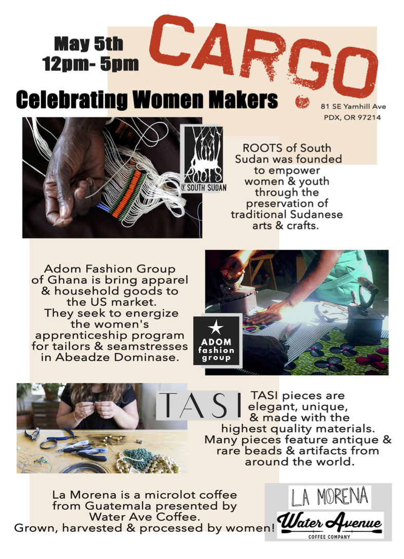Cargo x Women Makers - May 2018