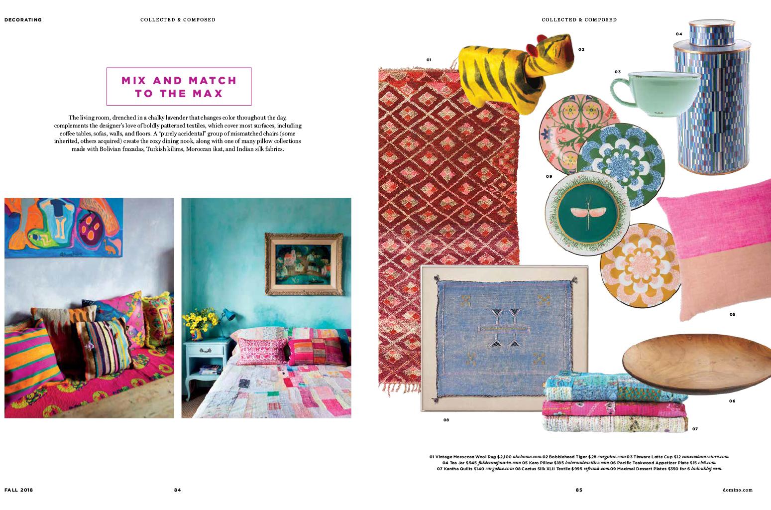 DominoMagazine - Fall 2018Featuring Cargo's Kantha Quiltsand Japanese Bobblehead's