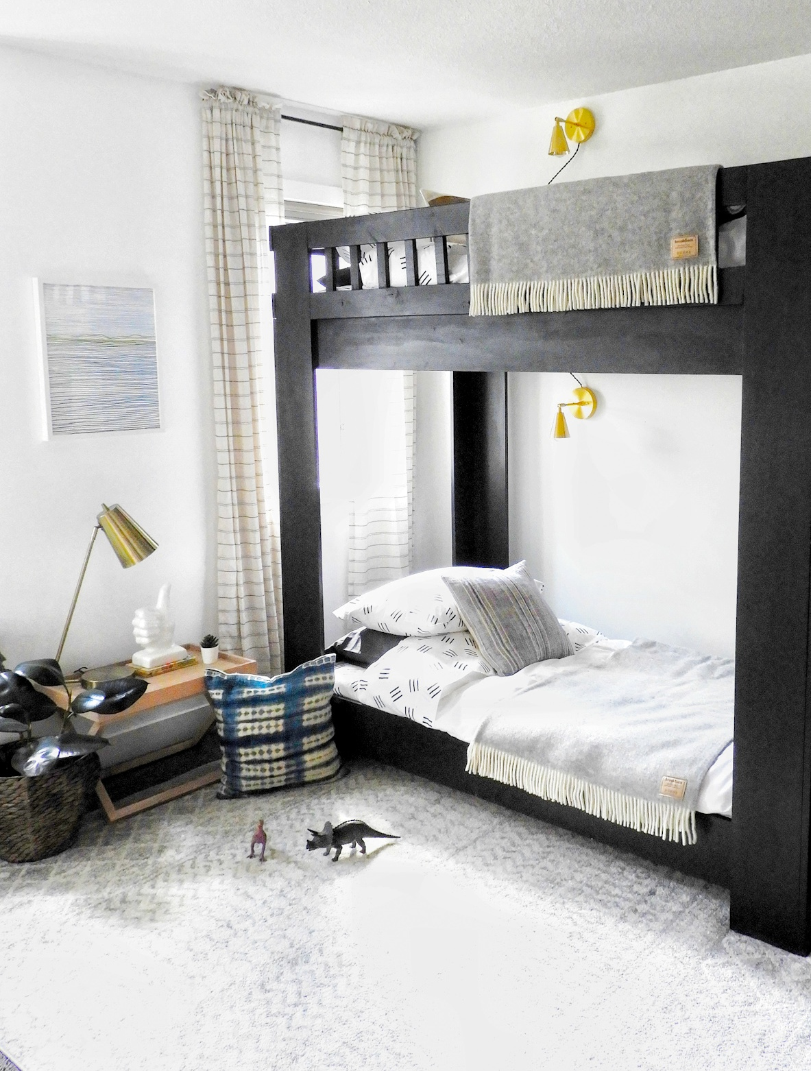 Brook Linen, Modern kids room, Pinterest kids room, bunk beds, boys room,