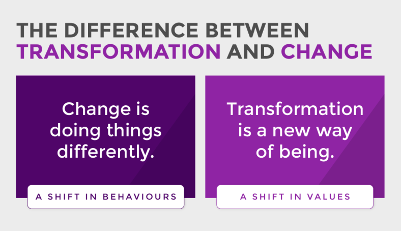The difference between transformation and change
