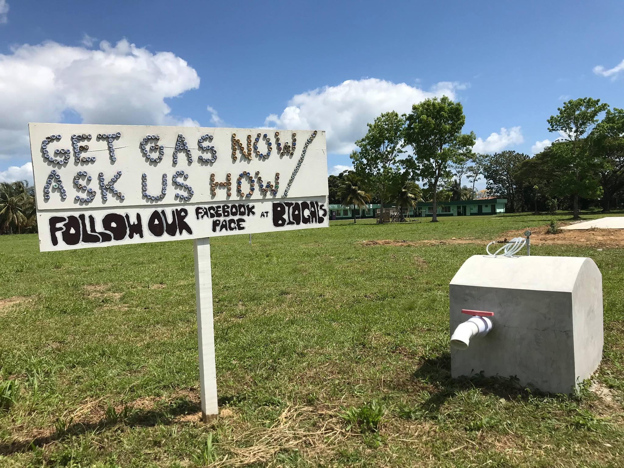 BioGals' Anaerobic digester prototype in Sittee River, Belize