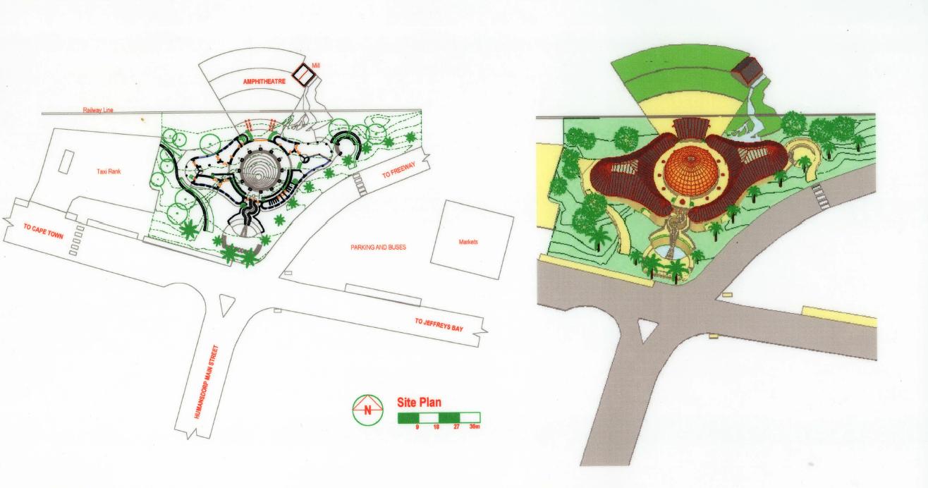 plans overview Kouga cultural centre