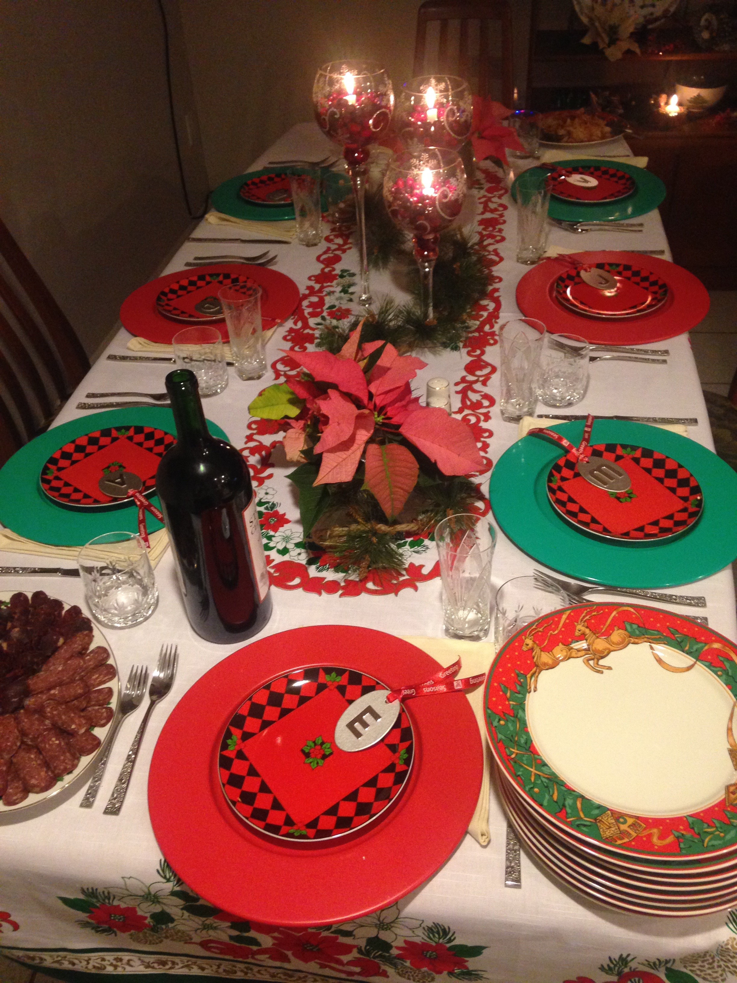 Figure 2a.  The mother's Christmas dinner table