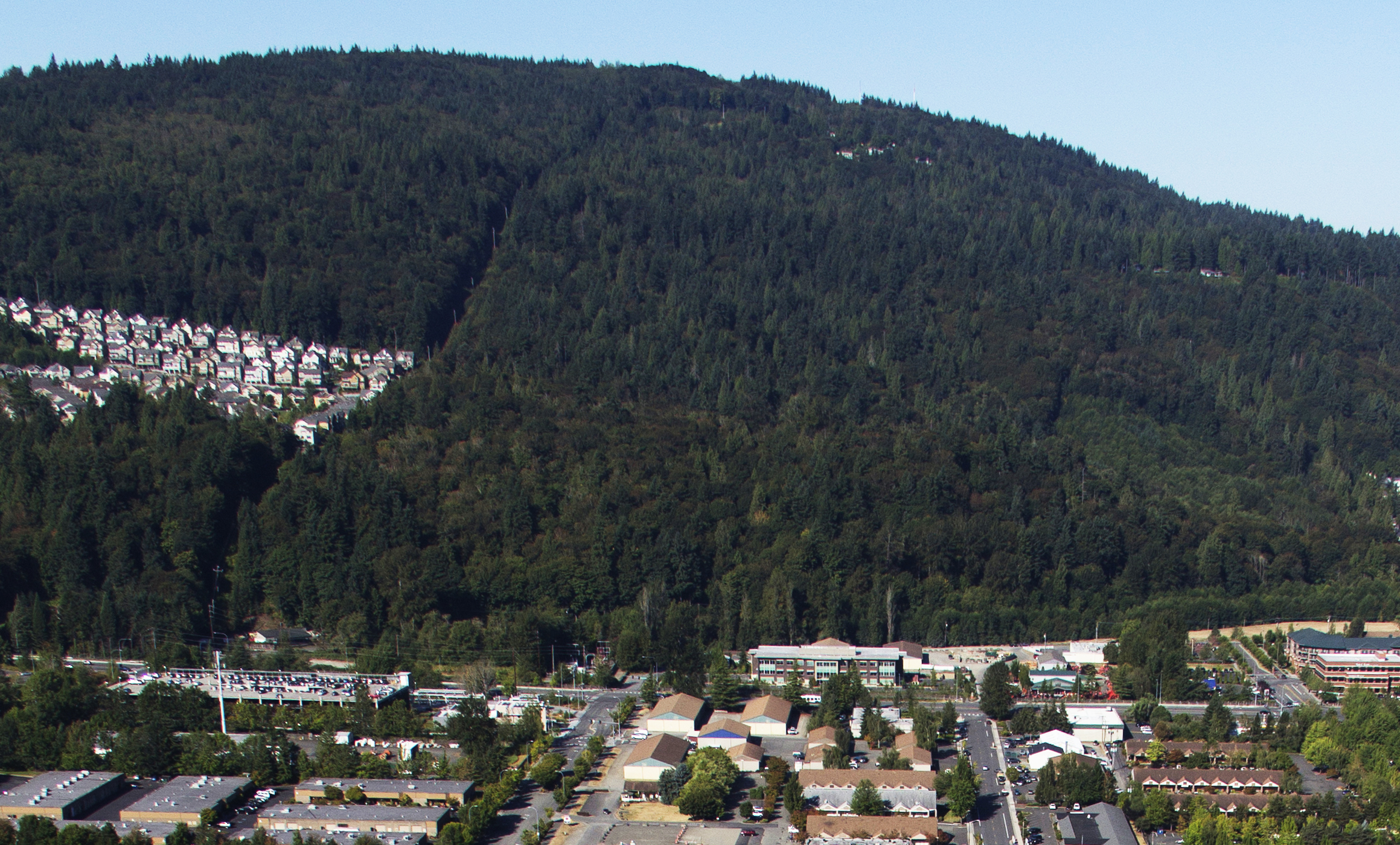 The Bergsma property is the forested area to the right of the Talus development.