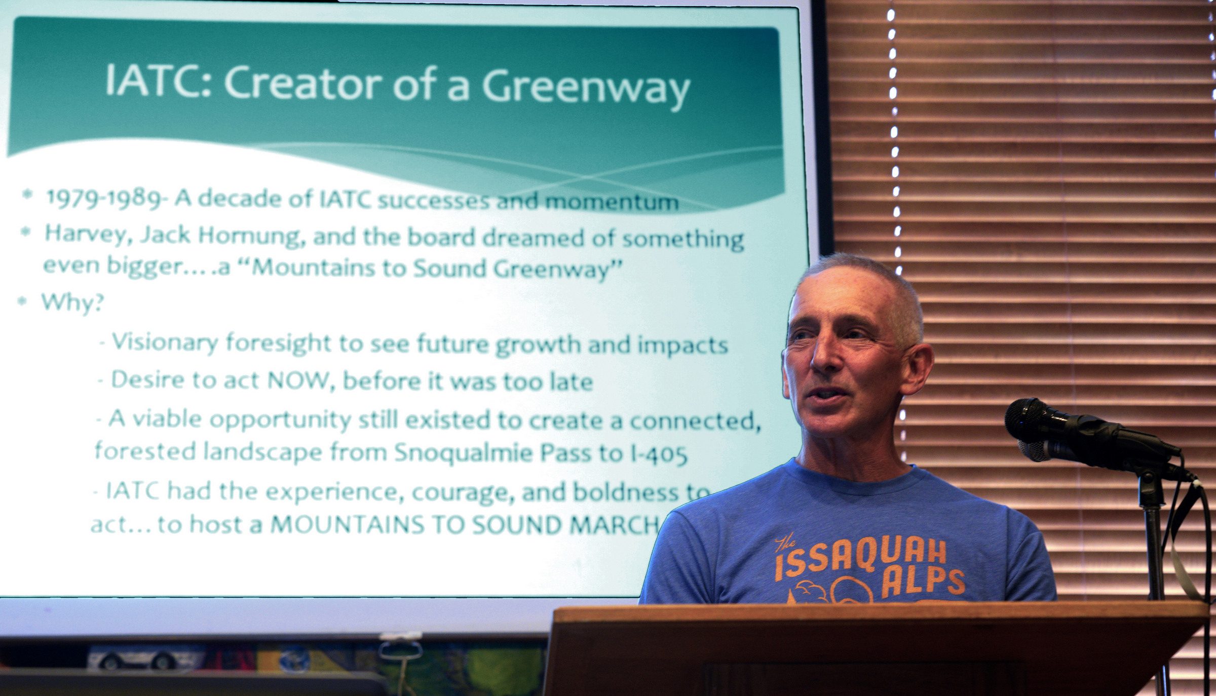 Ken Konisgsmark discusses the Mountains to Sound Greenway legacy.