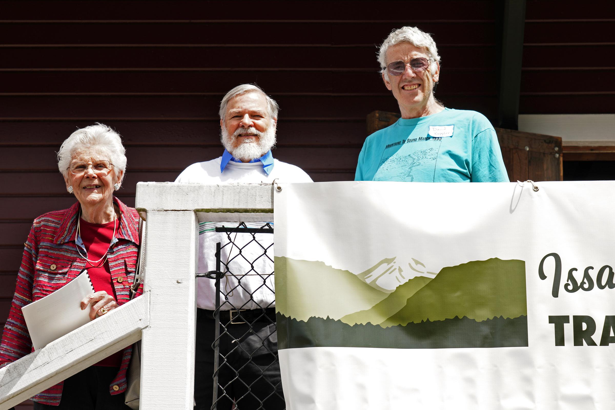Charter members Betty Culbert, Steve Williams and David Kappler.