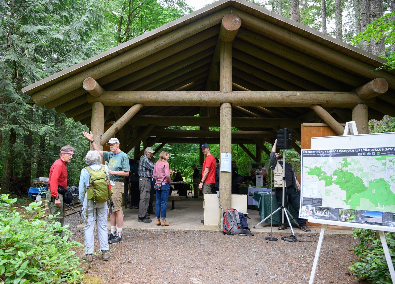 The venue for the event was the Education Shelter at the High Point Trailhead.