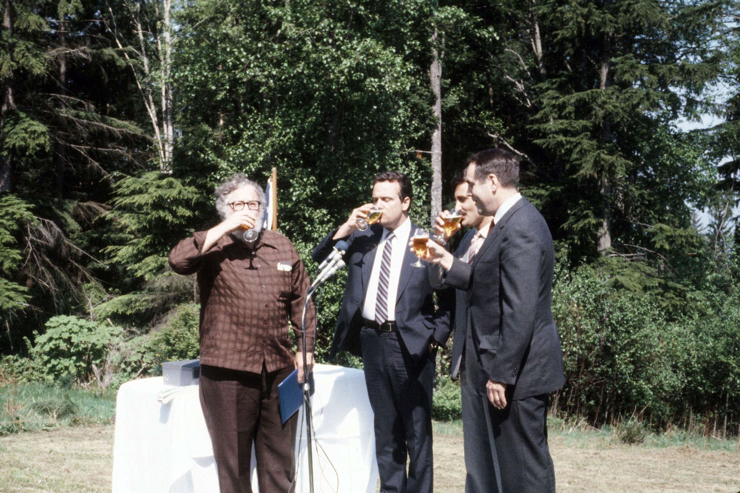 A Celebratory Toast – Harvey Manning, Randy Revelle, Daon corporate representative and Bruce Laing.