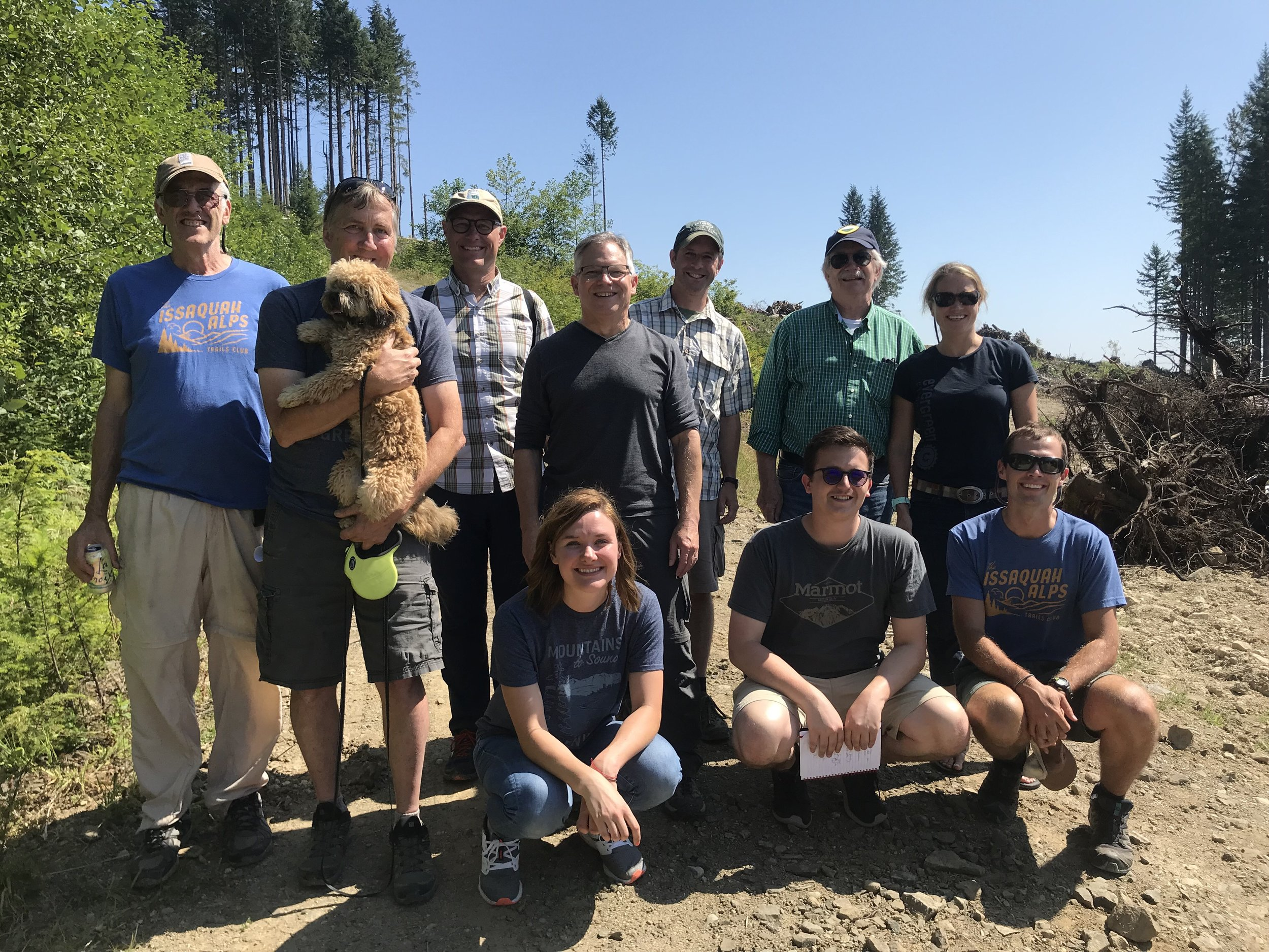 Representative Bill Ramos meets with the Issaquah Alps Trails Club, the Mountains to Sound Greenway Trust, Sierra Club, and Evergreen Mountain Bike Alliance to learn what we must do to allow safe wildlife and recreational trail crossings as Highway 18 is widened to five lanes.