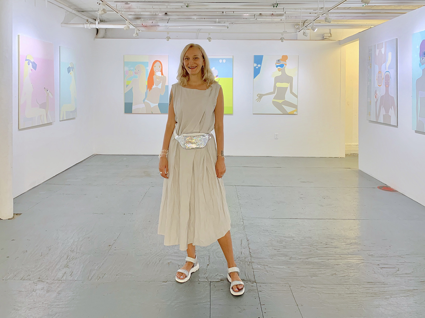 Olga Feshina at solo exhibition at NYA Gallery 104
