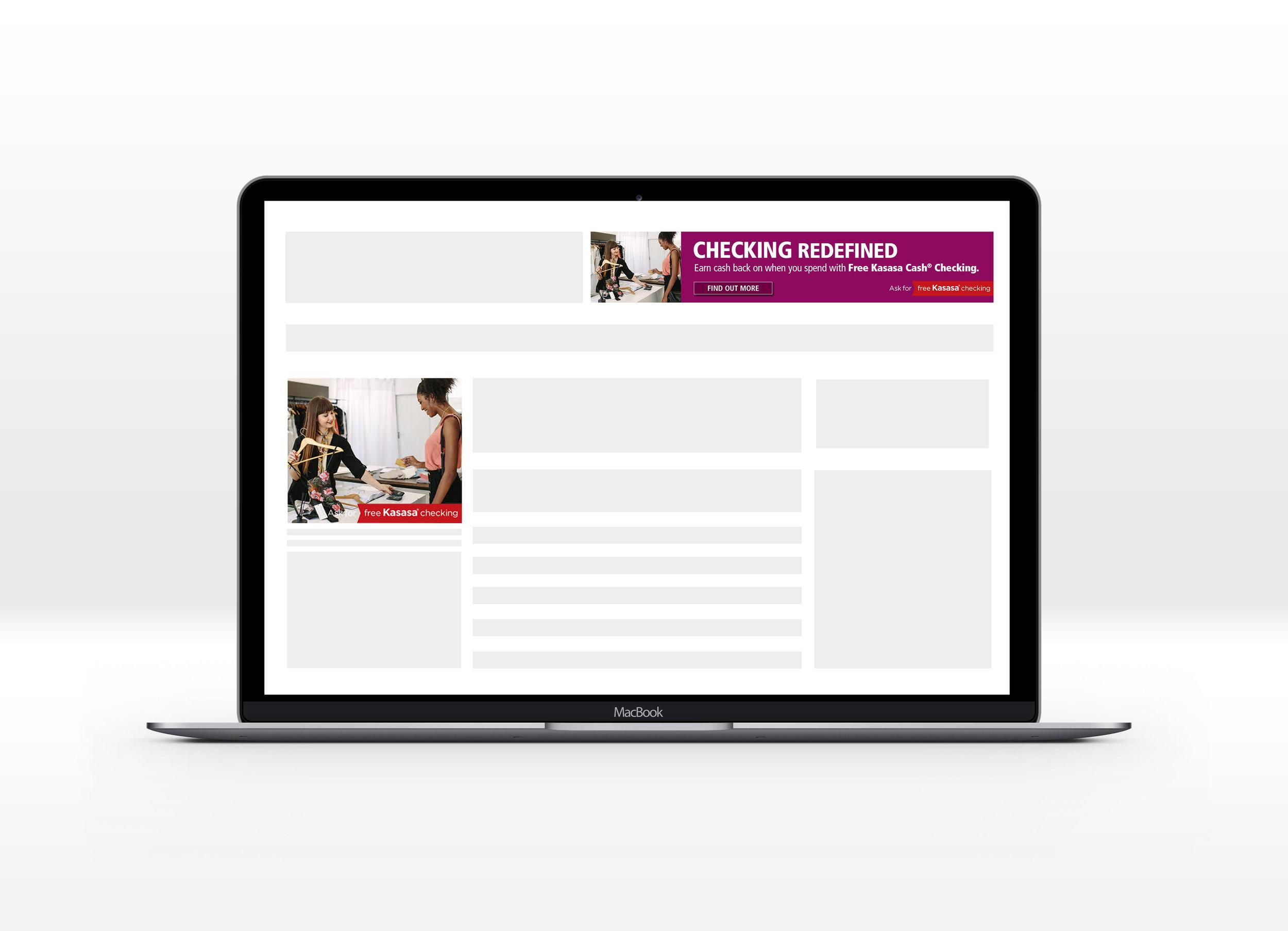 Kasasa Cash Checking Web Banners