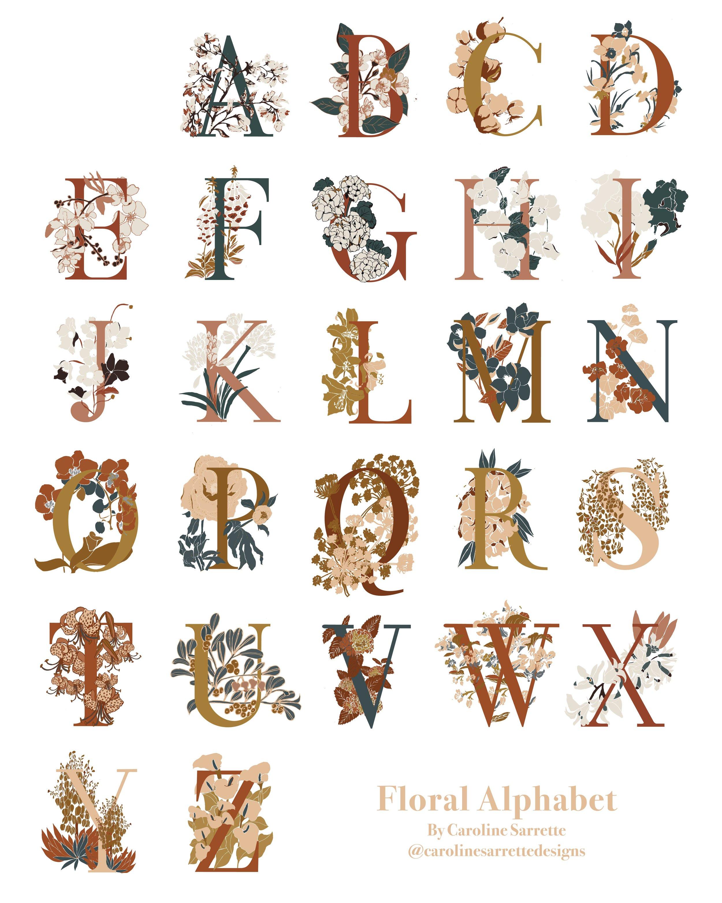 Floral Alphabet Project
