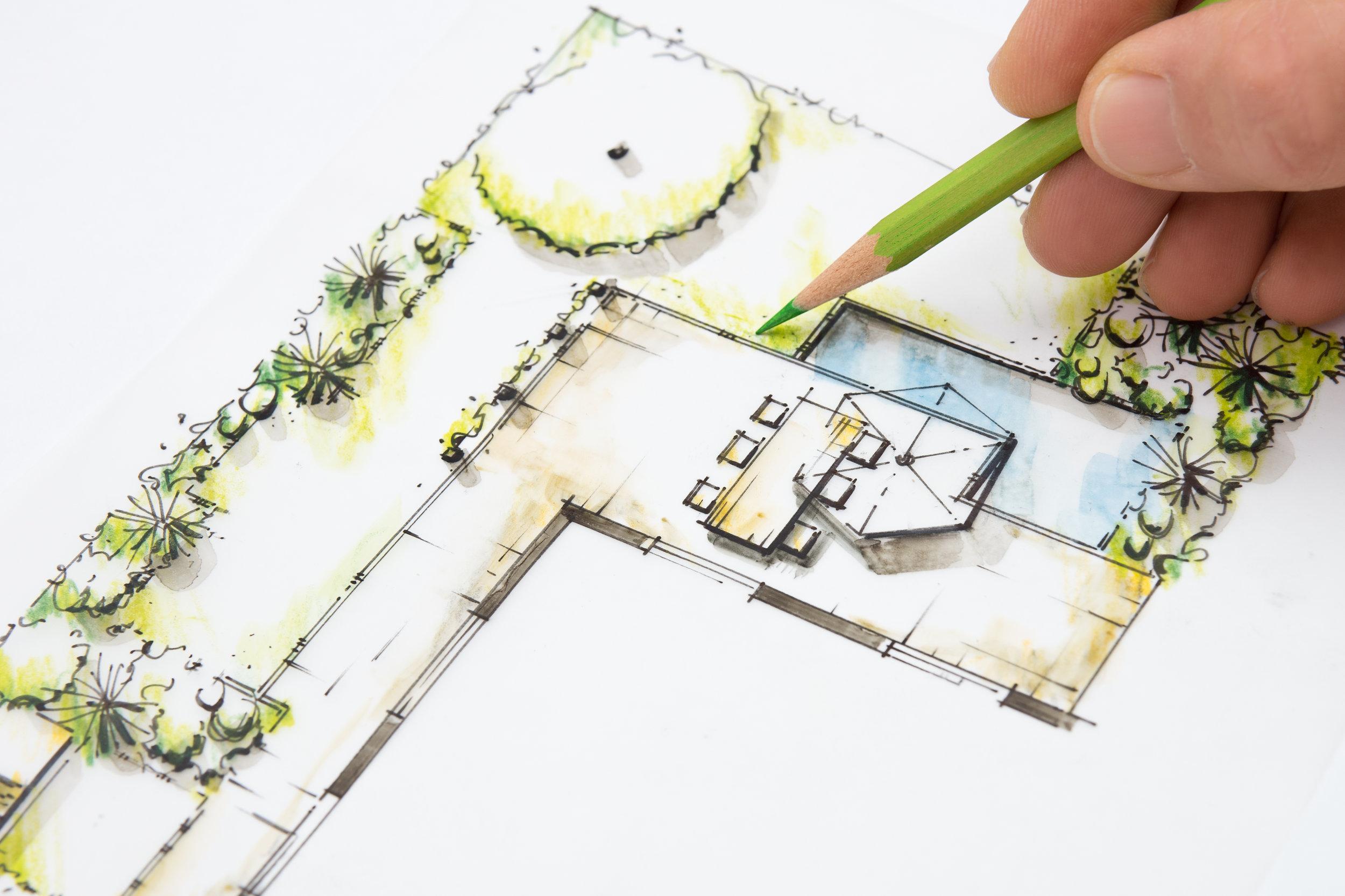 Copy of Garden Design Blueprint Sketching