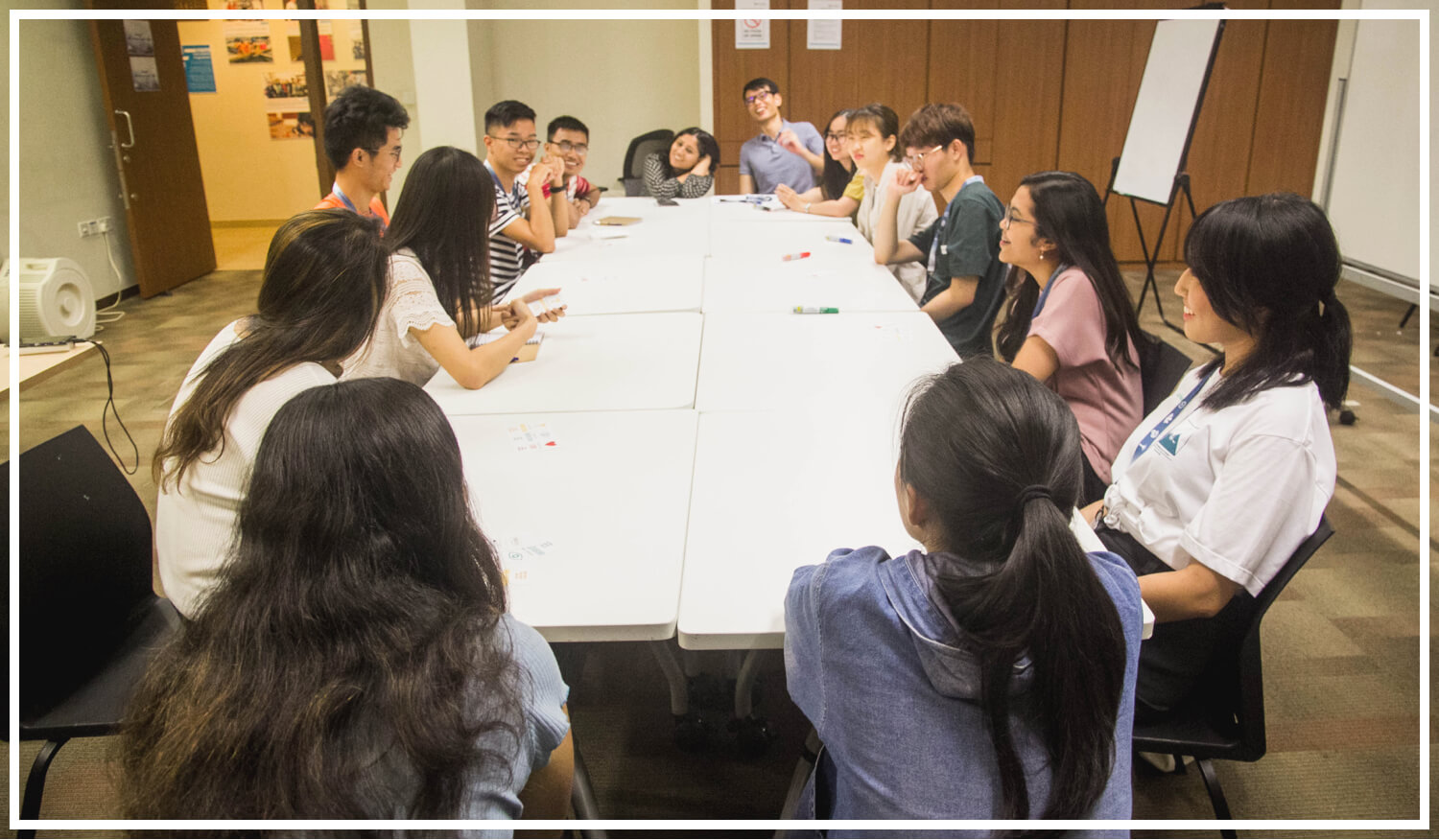 and let the sessions begin! - Once the Groups settled into their rooms, the volunteer facilitators kicked off the Conversation!With each delegate picking their own word (specifying the story they were going to tell), the rooms were soon filled with chatter. 💛