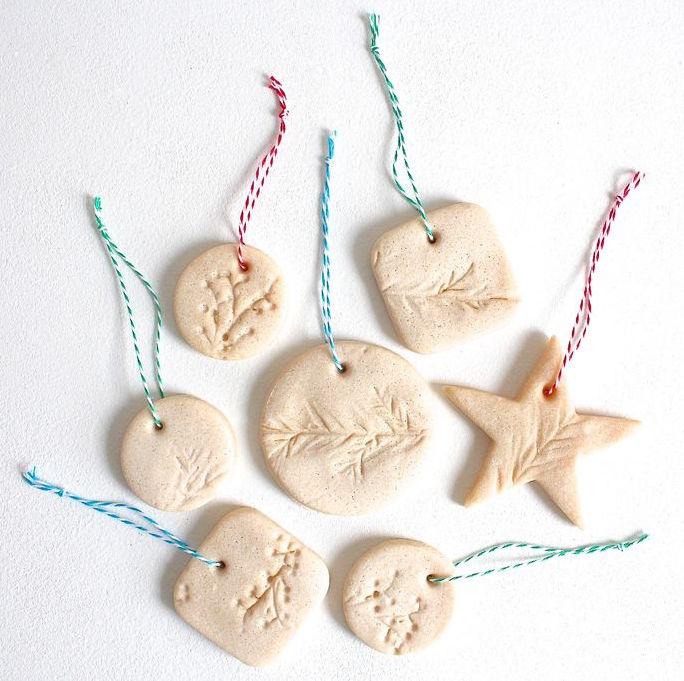 DIY essential oil salt ornaments