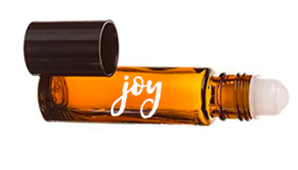 Peace and Joy essential oil roller bottles