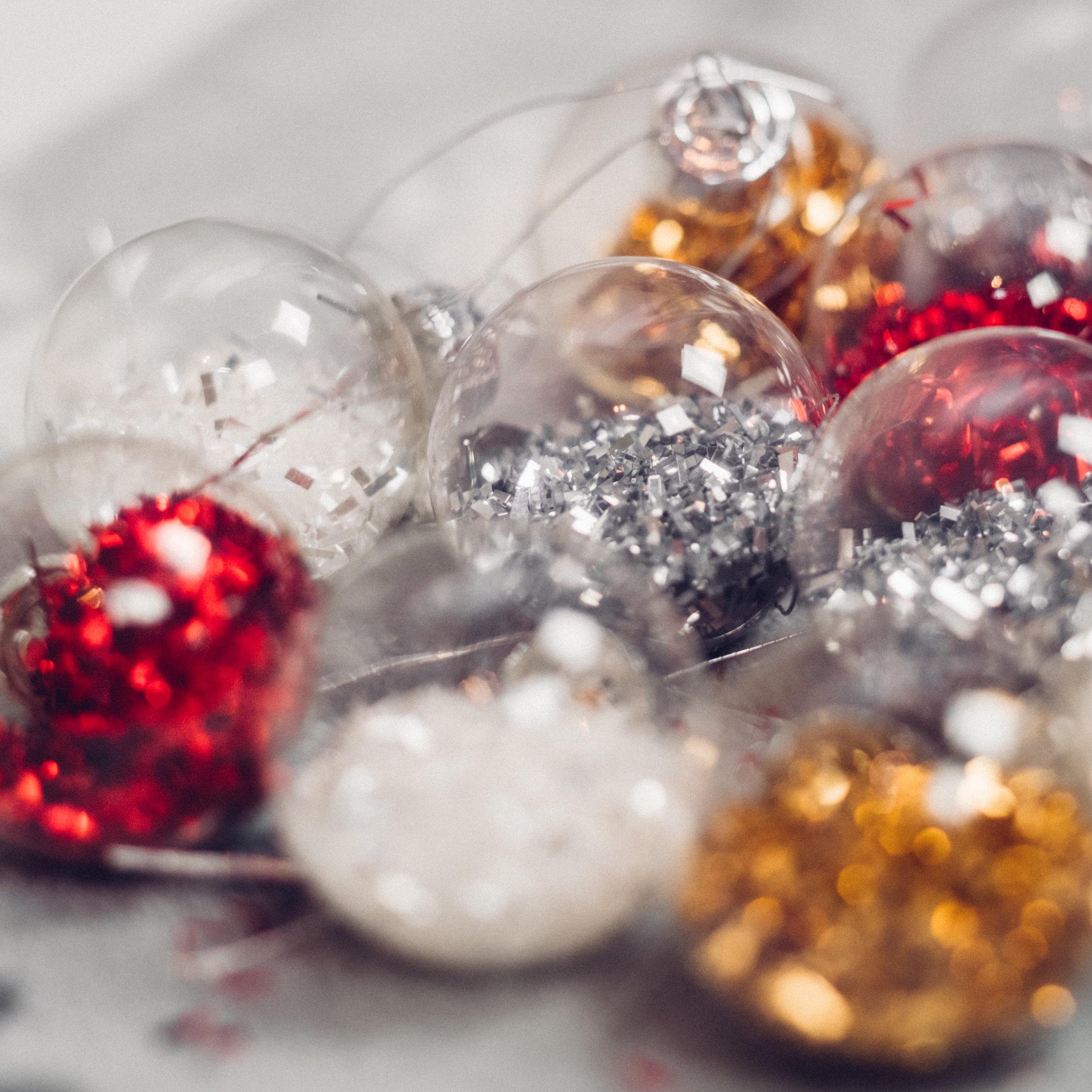 DIY essential oil epsom salt ornaments