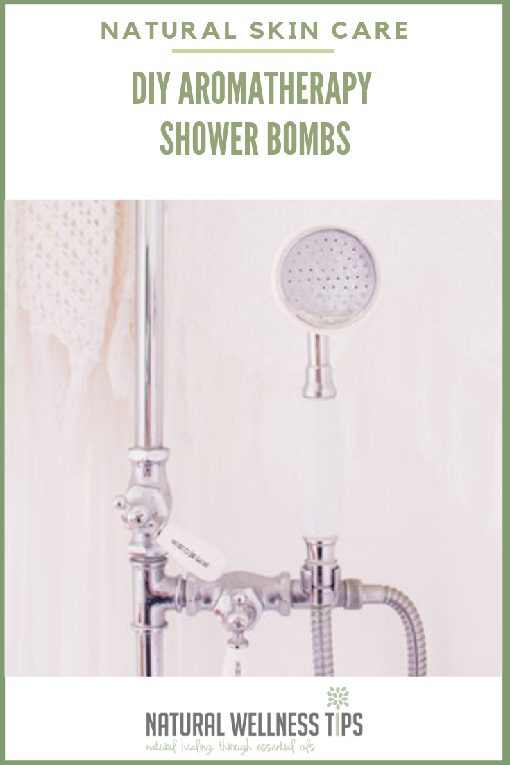 DIY all natural aromatherapy shower bombs
