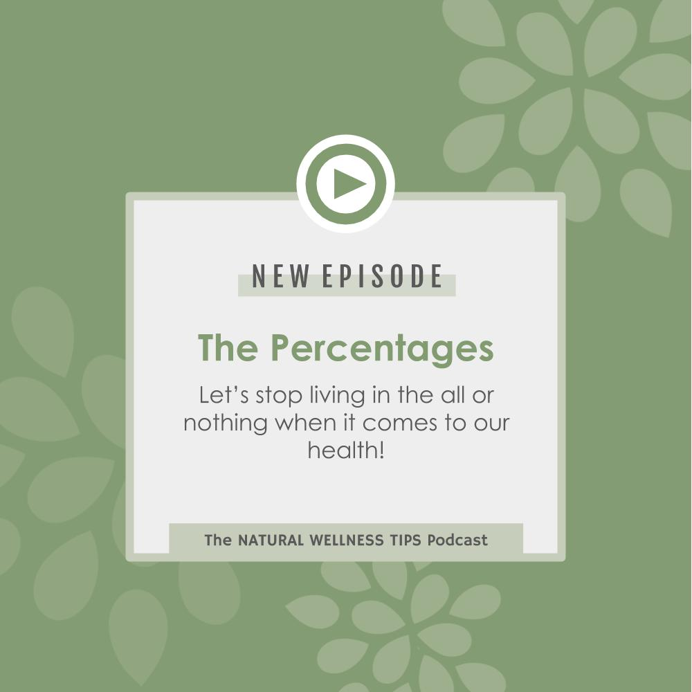 A podcast episode about living in the percentages instead of setting ourselves up for failure trying to be healthy all of the time.
