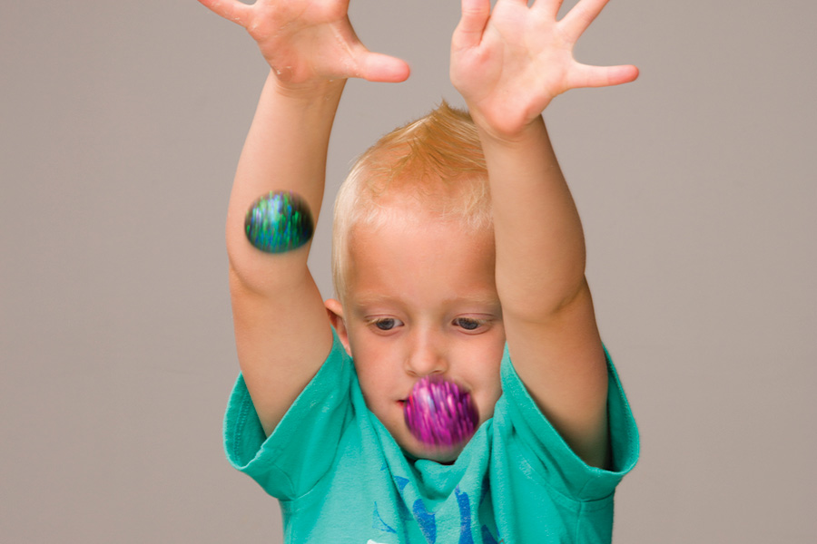 DIY bouncy balls with doterra essential oils