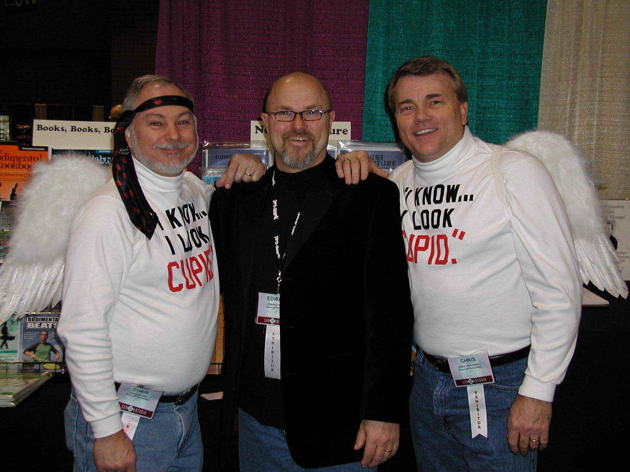 Edward with Chris Brooks and Chris Crockarell, 2009
