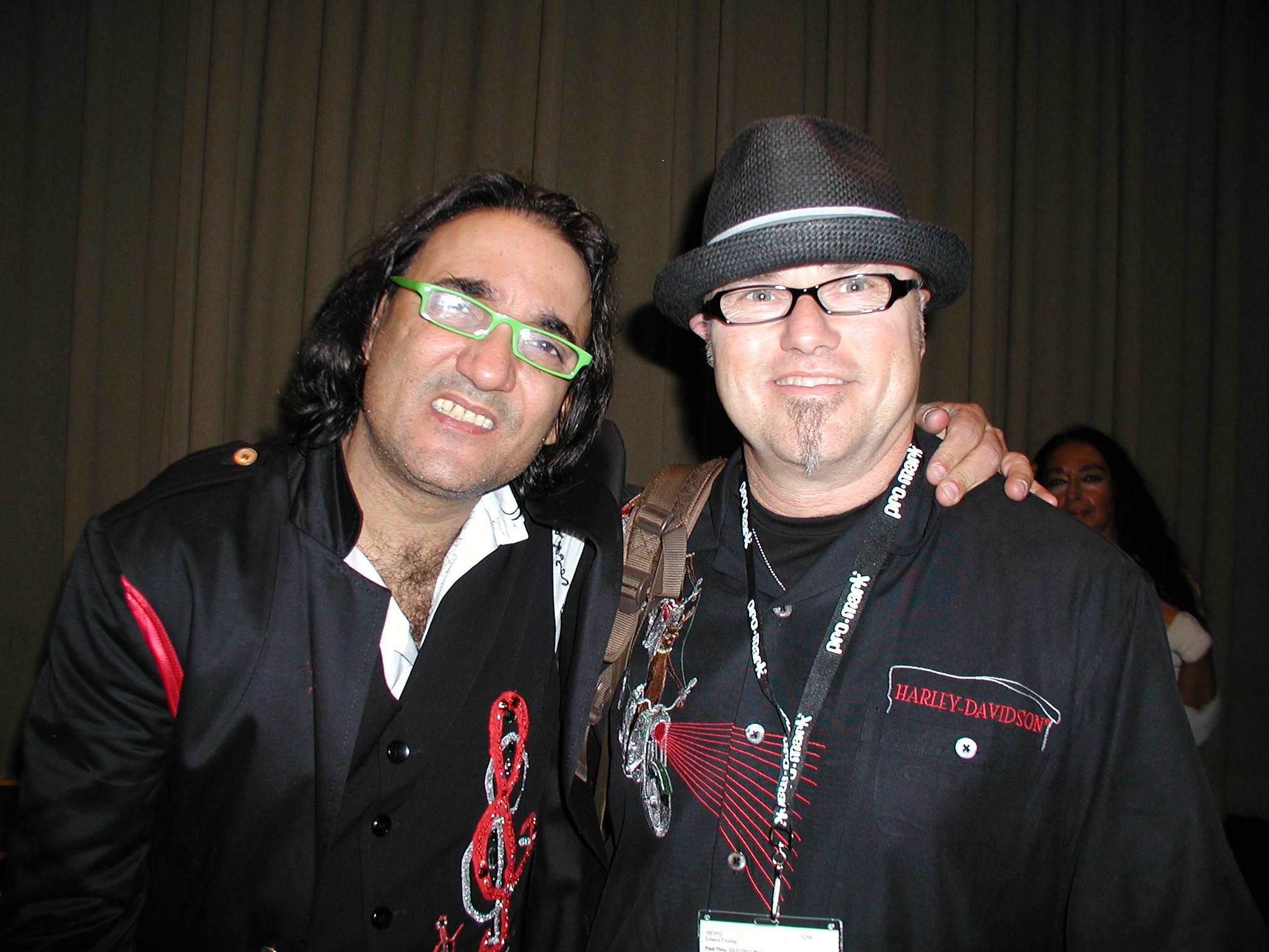 Edward with Latin jazz drummer, Horacio Hernandez, 2010