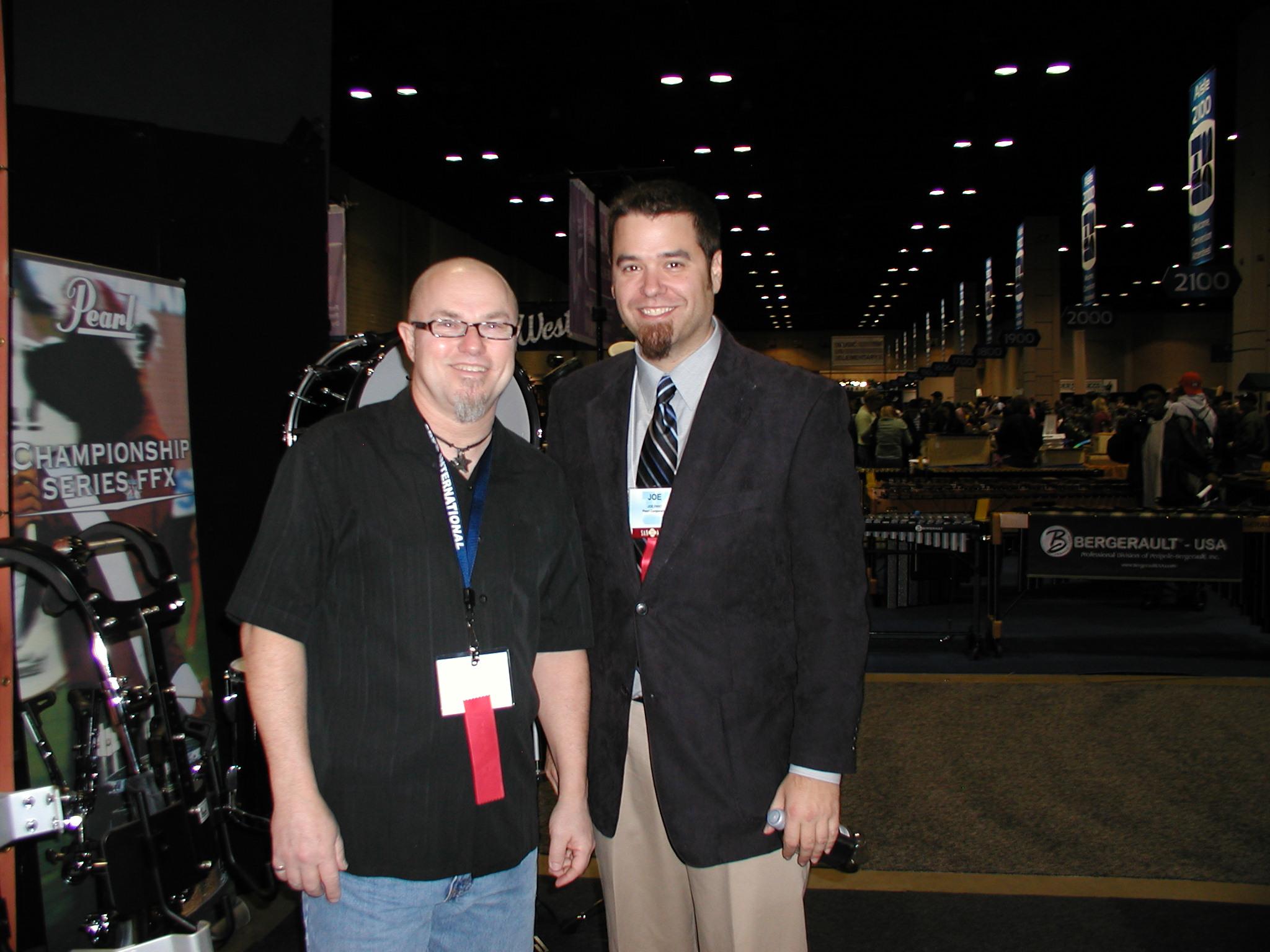 Edward and Joe Fant at TMEA, 2010