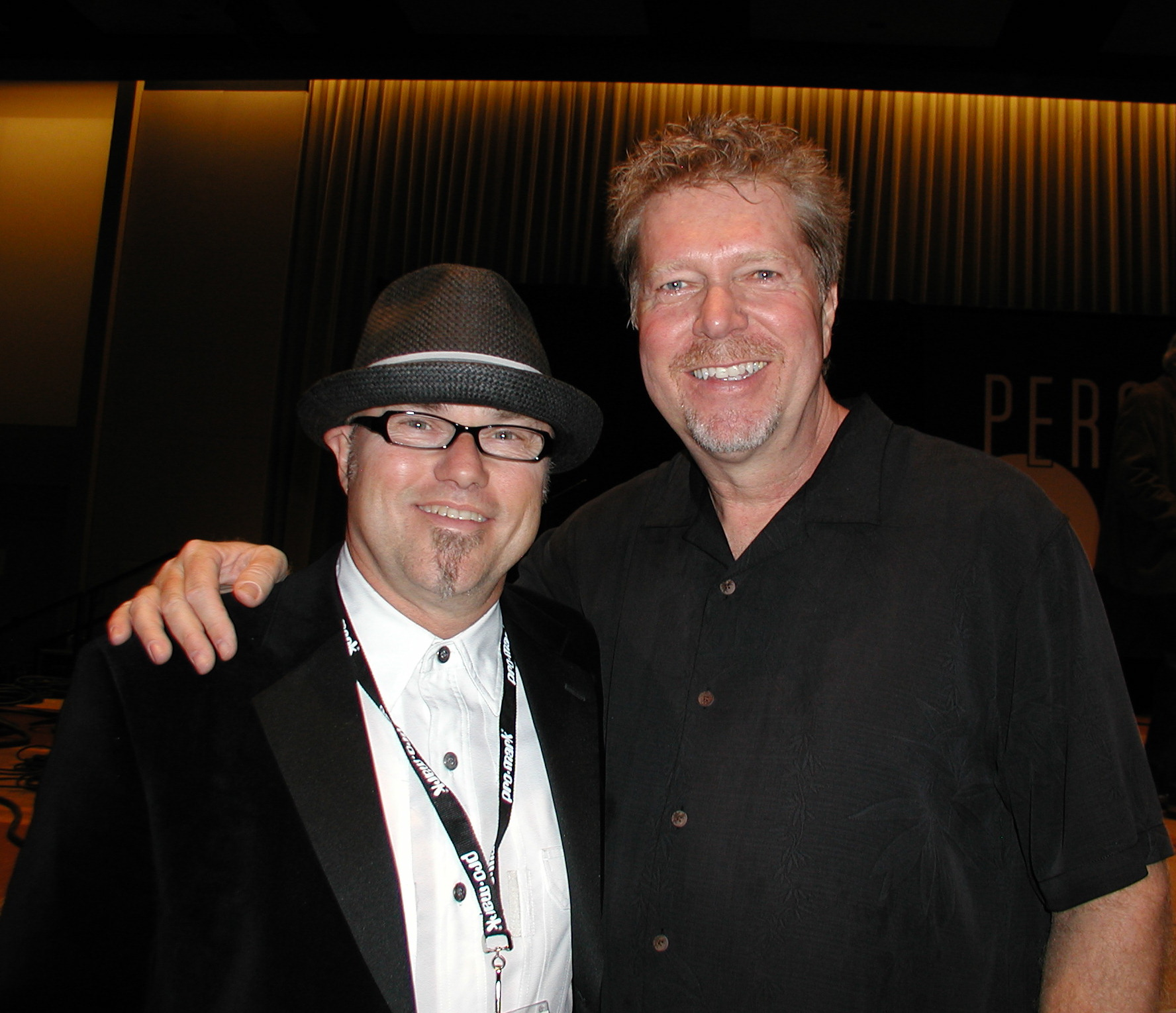 Edward with J.R. Robinson at PASIC, 2010