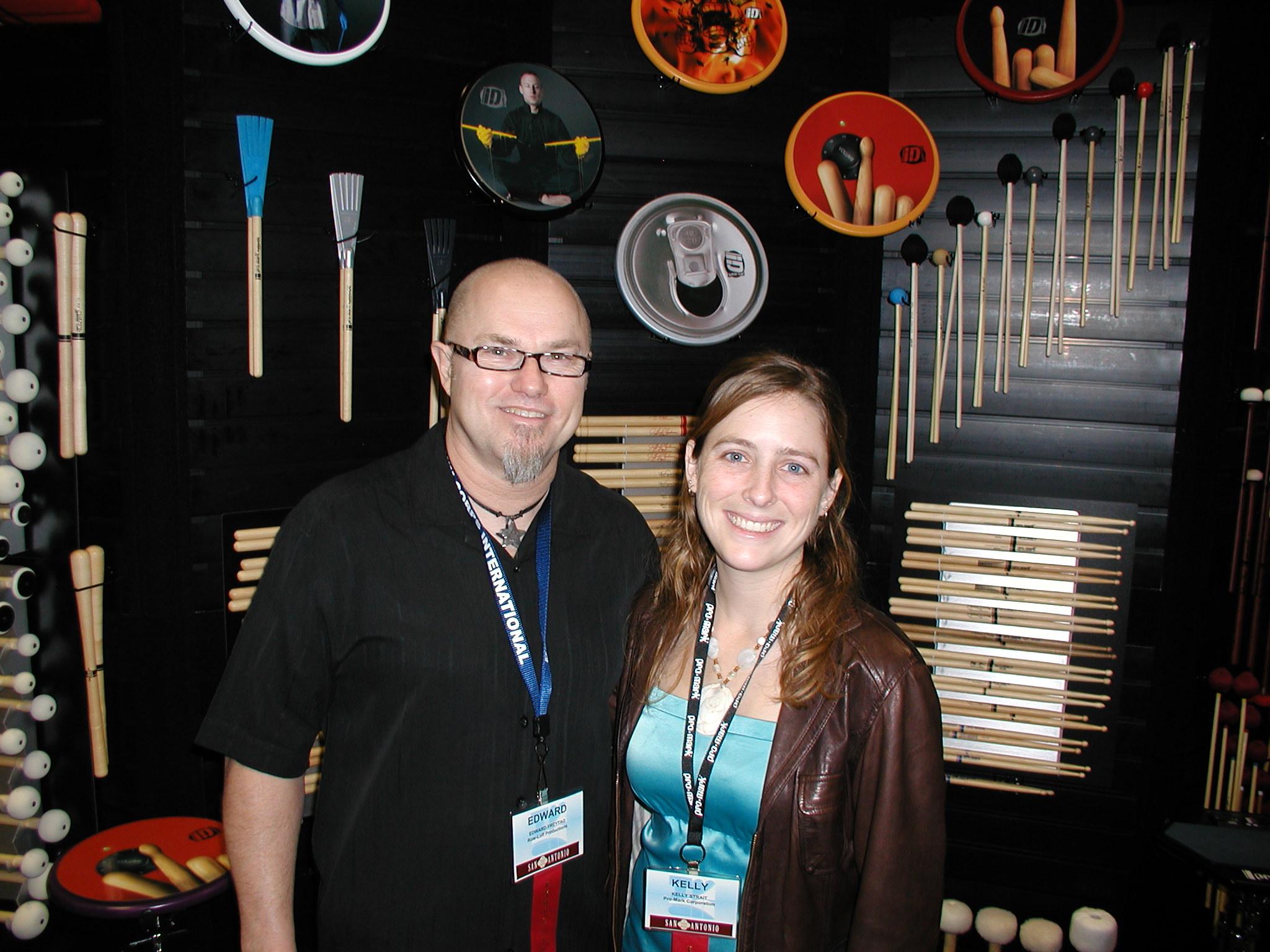 Edward with Kelly Strait, 2010