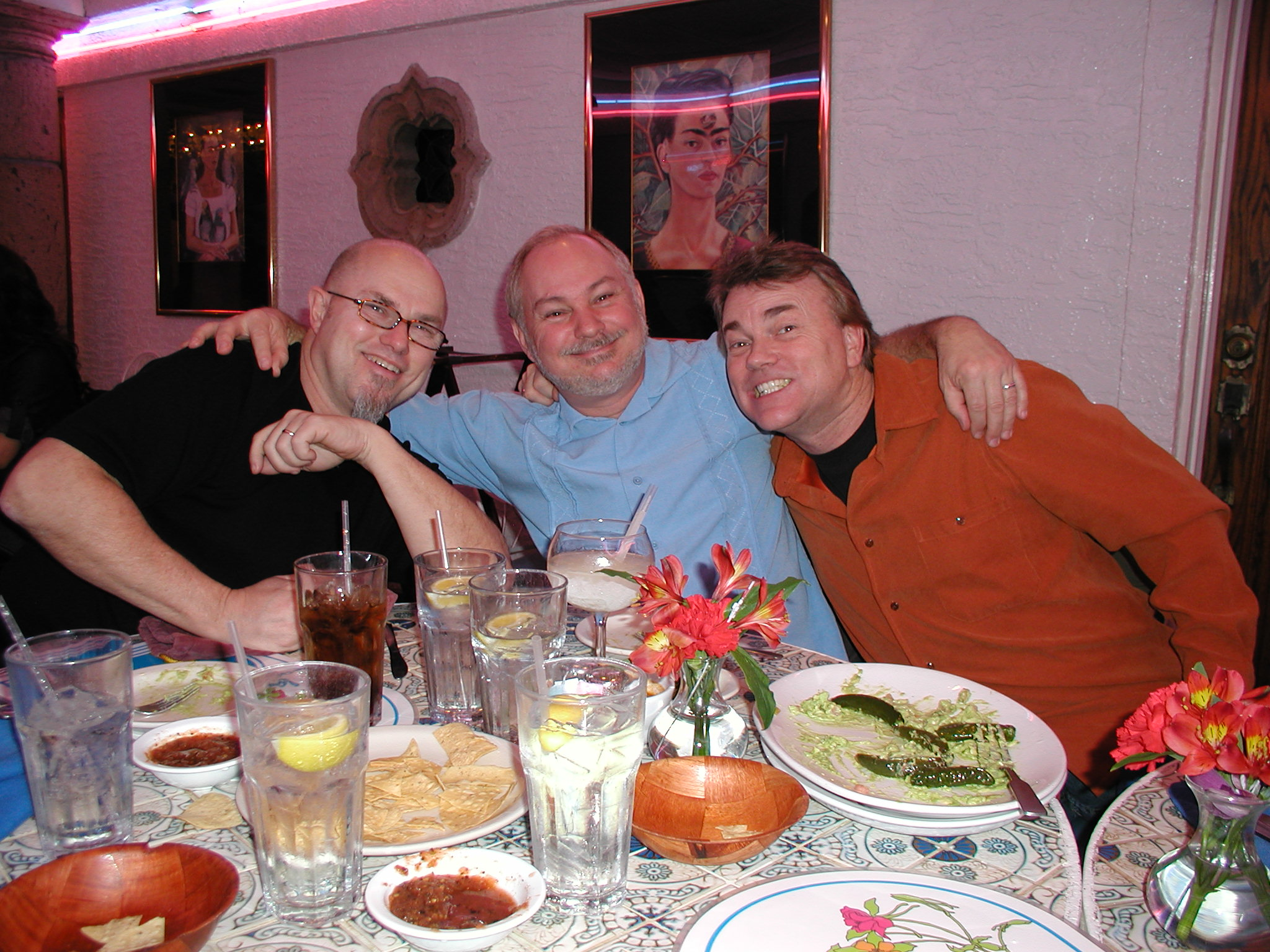 With Brooksie and Crock at La Fogata in San Antonio, 2010