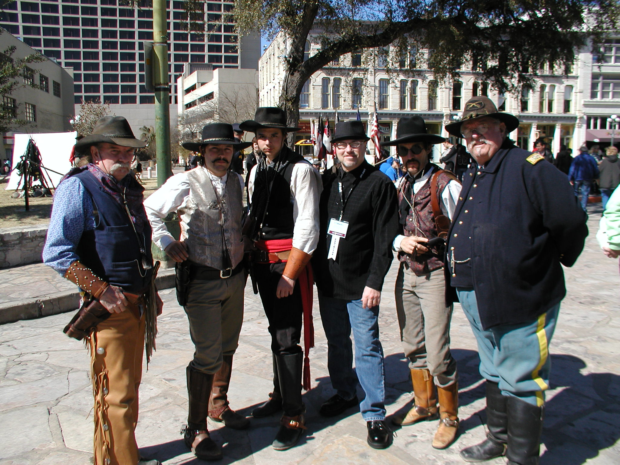 Outside the Alamo with a few bandito buddies, 2011