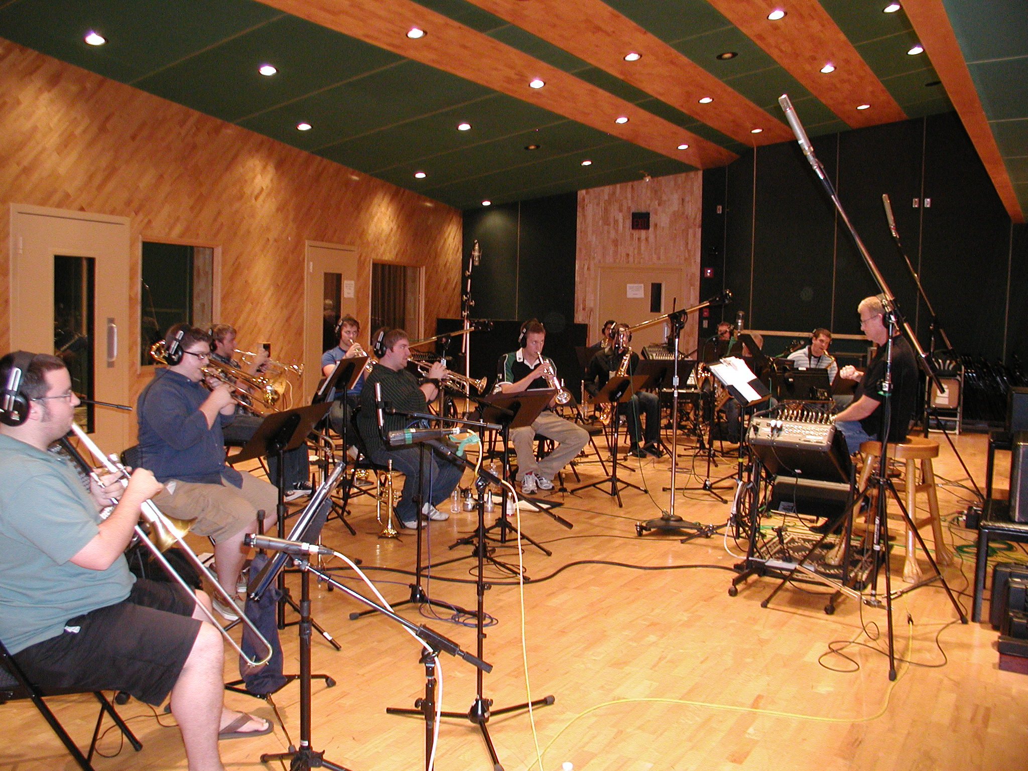 Recording project with Oklahoma State Univ Jazz in Nashville, 2011