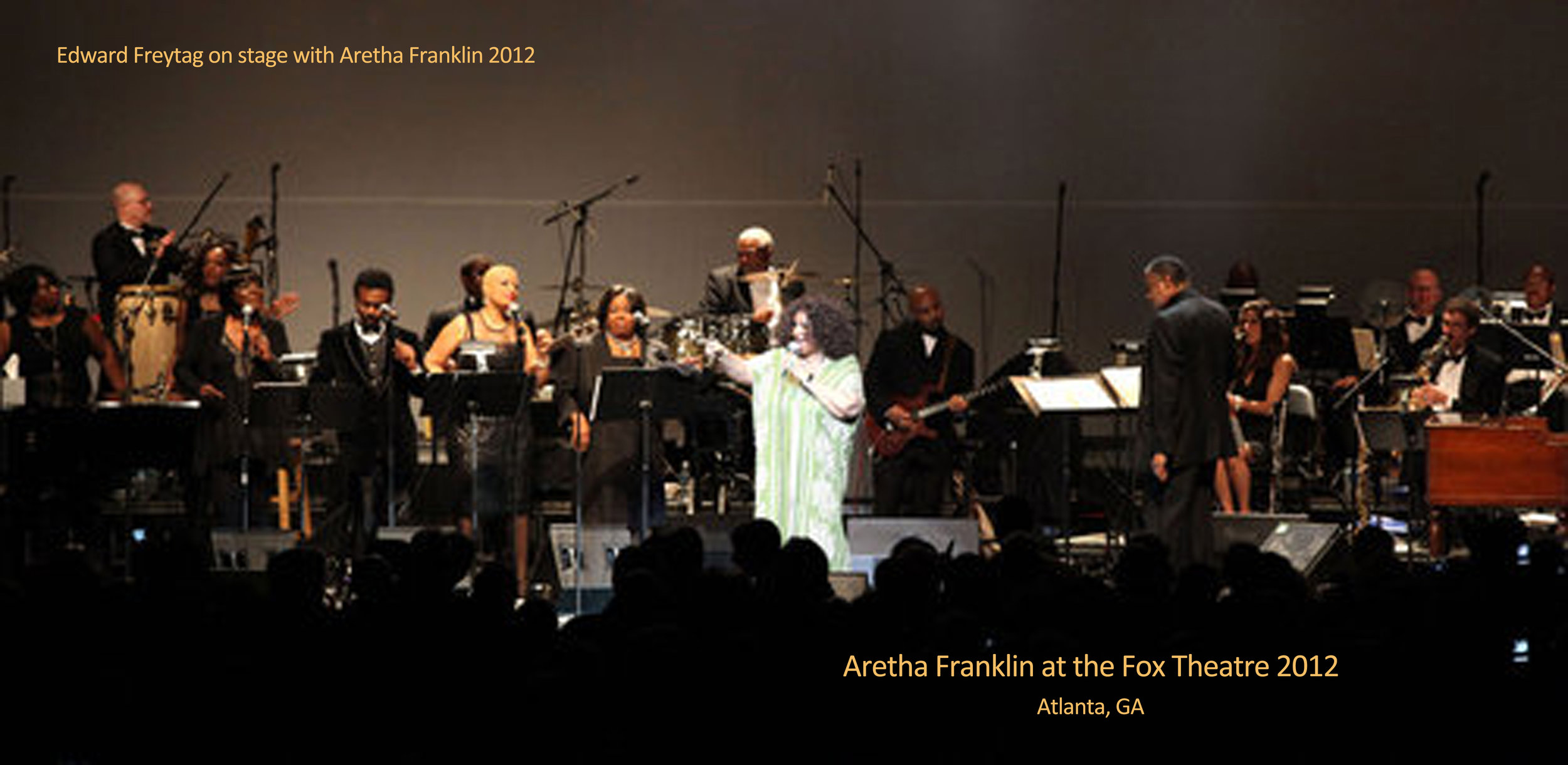 With Aretha Franklin in Atlanta's Fox Theater, 2012